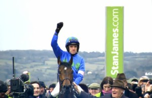 Ruby Walsh after winning the 2013 Stan James Champion Hurdle on Hurricane Fly
